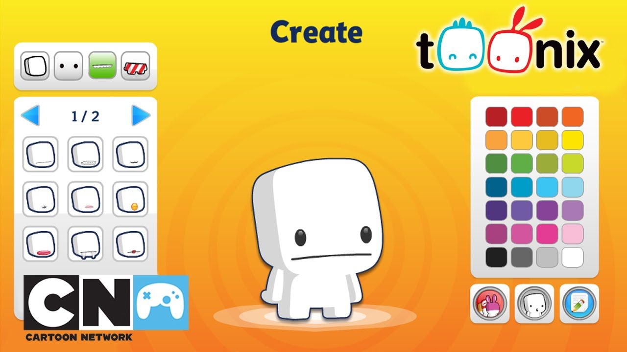 Create Your Toonix Game Cartoon Network Cartoon Network Cartoon Create Yourself