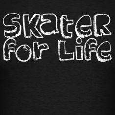 Black Skater for Life T-Shirts