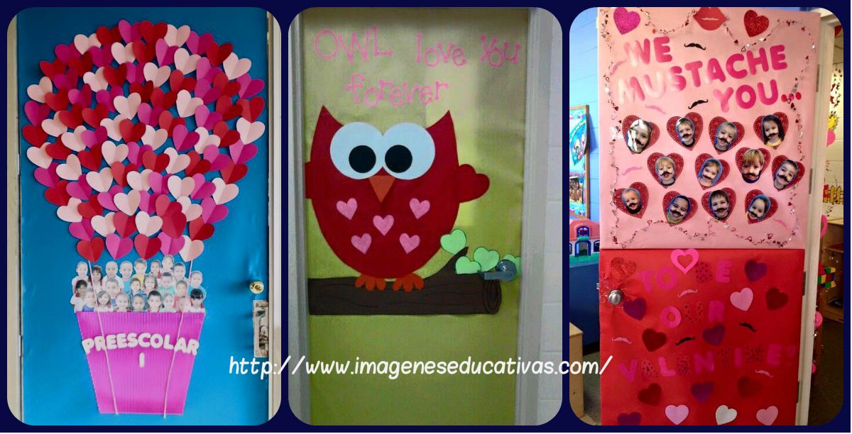 Colección de puertas para decorar nuestras clases el 14 febrero día del amor y de la amistad Los más pequeños de la casa también tienen que tener la oportunidad de festejar San Valentín. Es...