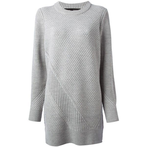 Proenza Schouler Check Knit Sweater Dress ($322) ❤ liked on