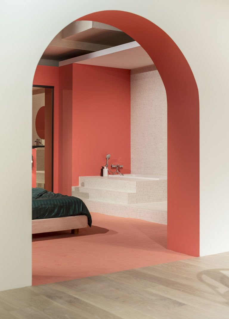 The Color Under The Arch Along With The Color On The Back Wall Are What The Eye En 2020 Colores De Casas Interiores Colores De Interiores Colores Para Casas Exteriores