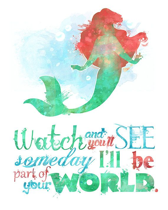 Little Mermaid Part of Your World 8x10 Printable Poster ...