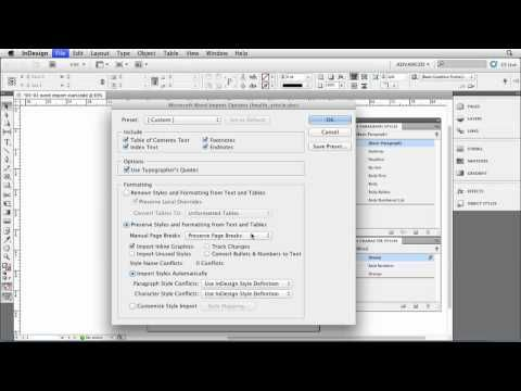 InDesign tutorial: How to import Microsoft Word files | lynda.com ...