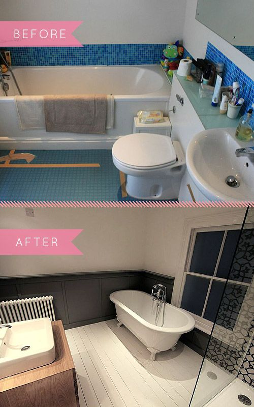 Design Sponge Before After A Bold Black White Bathroom Transformation Black White Bathrooms Bathroom Design Inspiration Bathroom Transformation