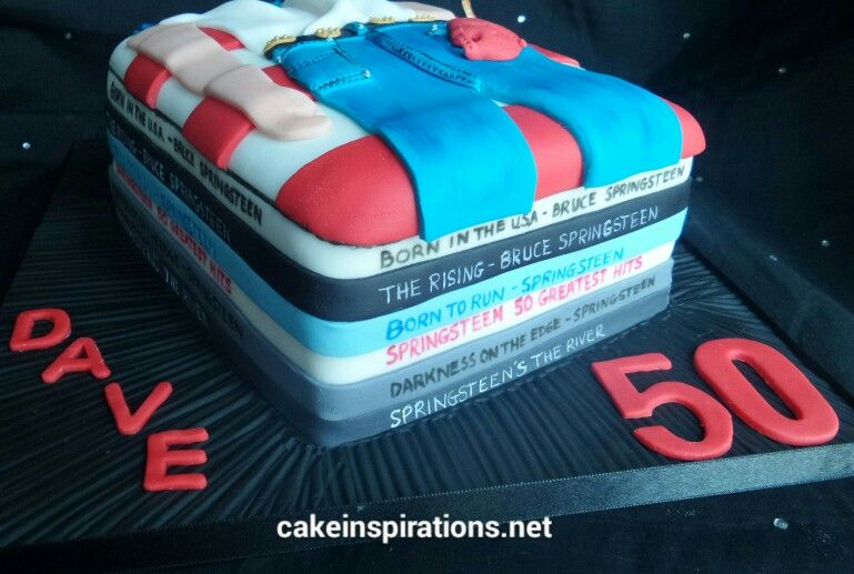Amazing Bruce Springsteen Fans Cake With Images Bruce Springsteen Funny Birthday Cards Online Bapapcheapnameinfo