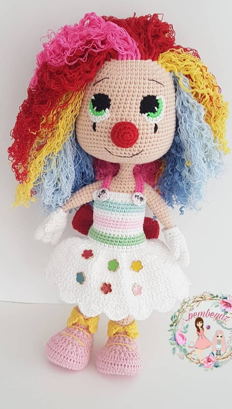 Amigurumi Mina Doll Free Crochet Pattern in 2020 (With images ... | 1350x766