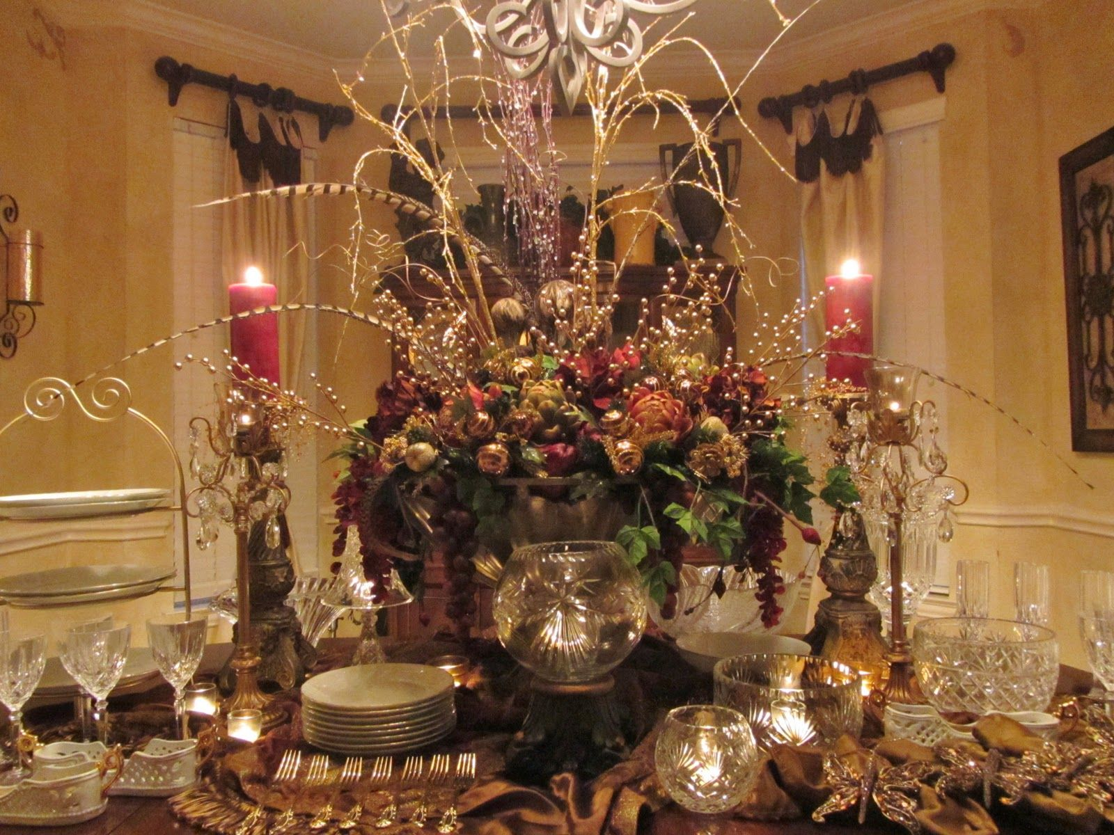 buffet table setting pics and suggestions: divine dinner, hosting