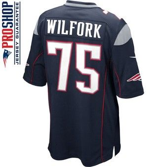 54e3e128bd2 ... Official New England Patriots ProShop - Nike Vince Wilfork 75 Game  Jersey -Navy ...