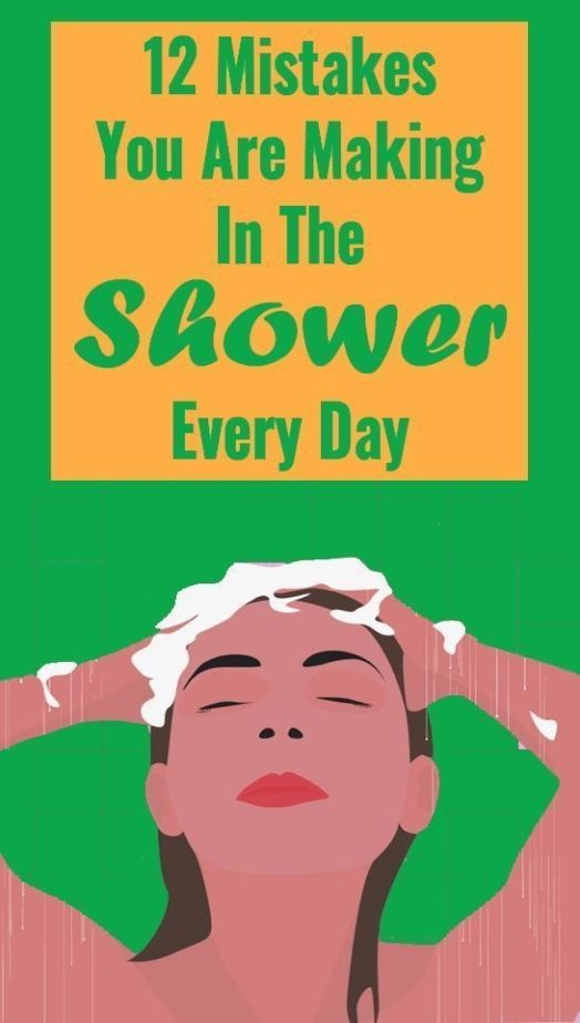 12 Mistakes You Make In The Shower That Can Affect