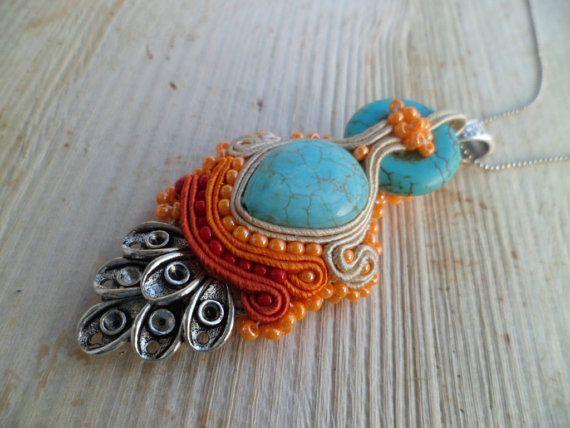 Handmade soutache pendant. Vegan friendly. by SoutacheShop on Etsy, $29.99