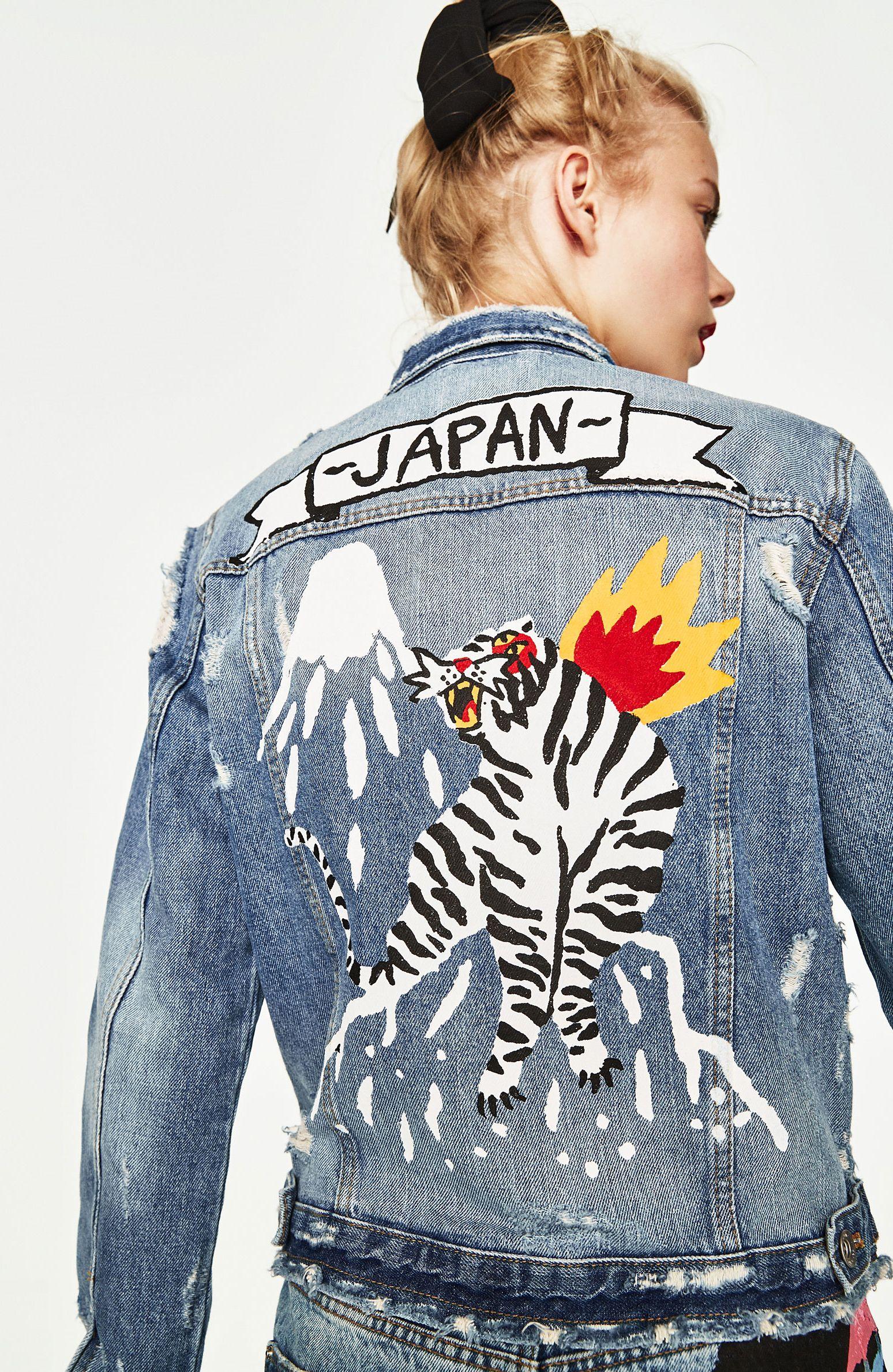 4ce7f727c Japan denim jacket by Ricardo Cavolo   Clothes   Painted denim ...