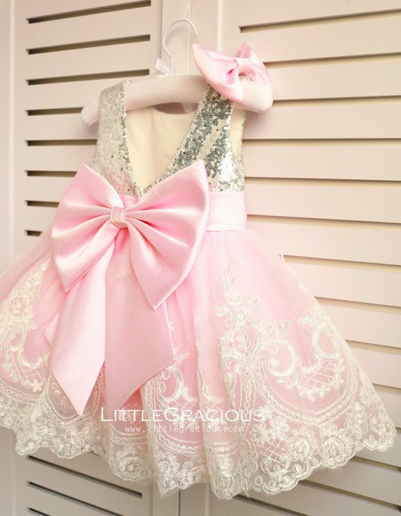 Little girl outfits. Rose Gold Lace Back Couture Flower Girl Dress by  LittleGracious 13037fa7d33d