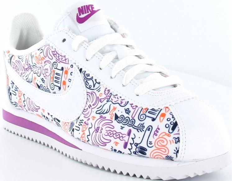 sale retailer f0ca6 6448c Nike cortez x steven harrington blancprint Nike Cortez Femme, Blue Nike,  Nike