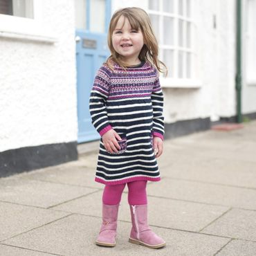 Cashmere Mix Fair Isle Dresses, Girls Dresses and Dungarees, Girls ...