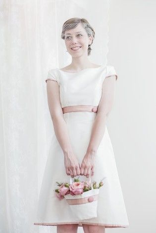 vintage Brautkleid, 60er Jahre   Dekoration, Fascinator and Wedding ...