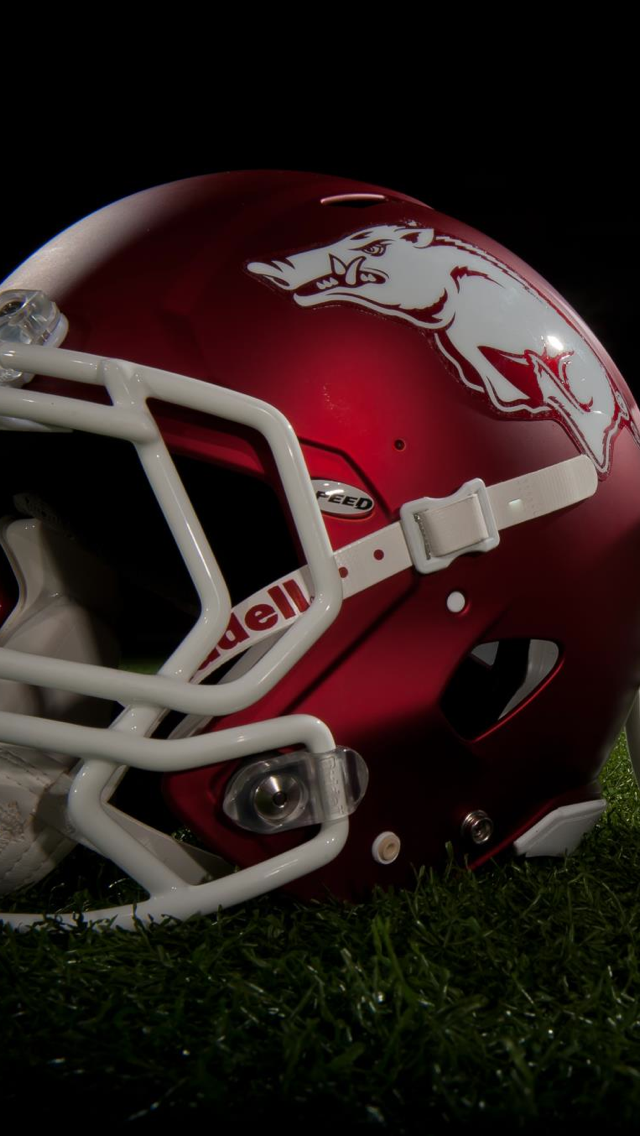 Razorback Helmet Red Helmet Razorbacks Football Helmets