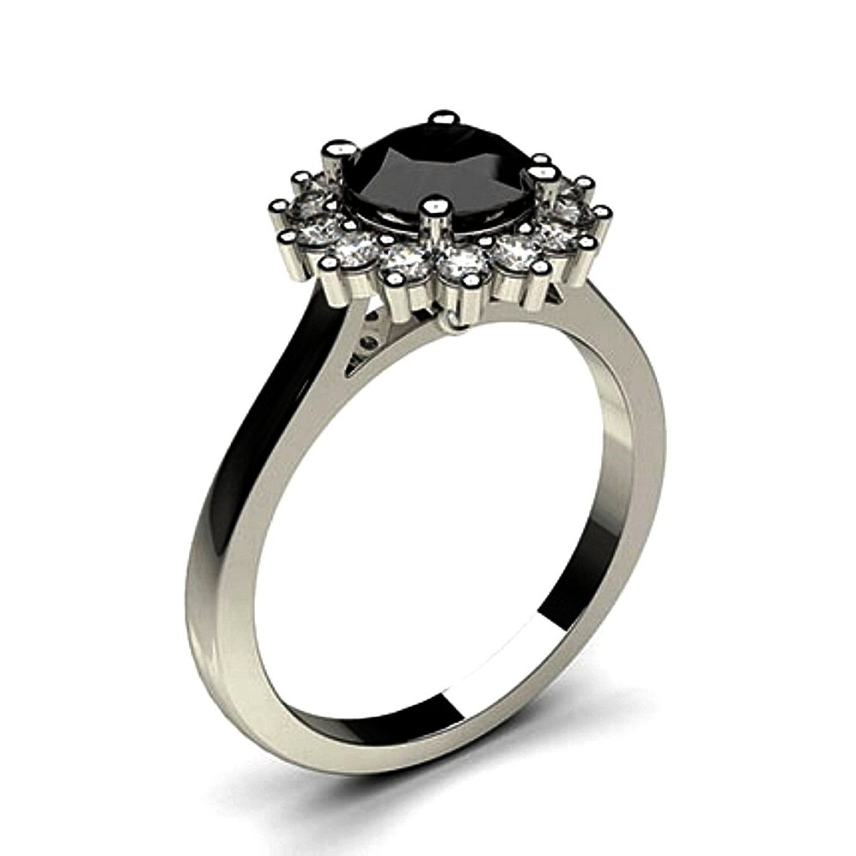 JewelsForum 4 Prong Setting 1 2 Carat Solitaire Black Diamond Ring