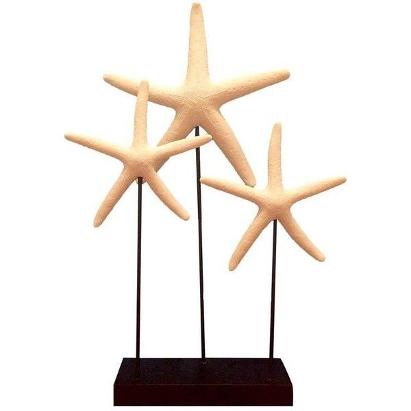 Decorative Starfish On Sandstone Base 1 665 625 Idr Liked On Polyvore Featuring Home Home Decor Decor Beach Out Ocean Home Decor Decor White Home Decor