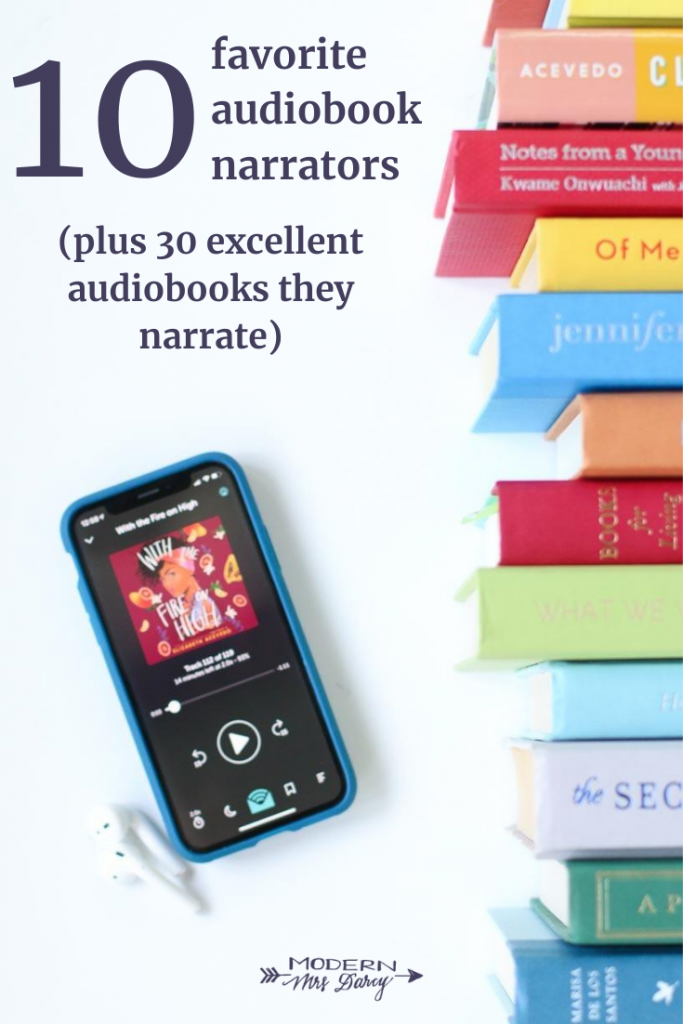 10 Favorite Audiobook Narrators Plus 30 Excellent Audiobooks They Narrate Modern Mrs Darcy In 2020 Audio Books Book Writing Inspiration Audiobooks