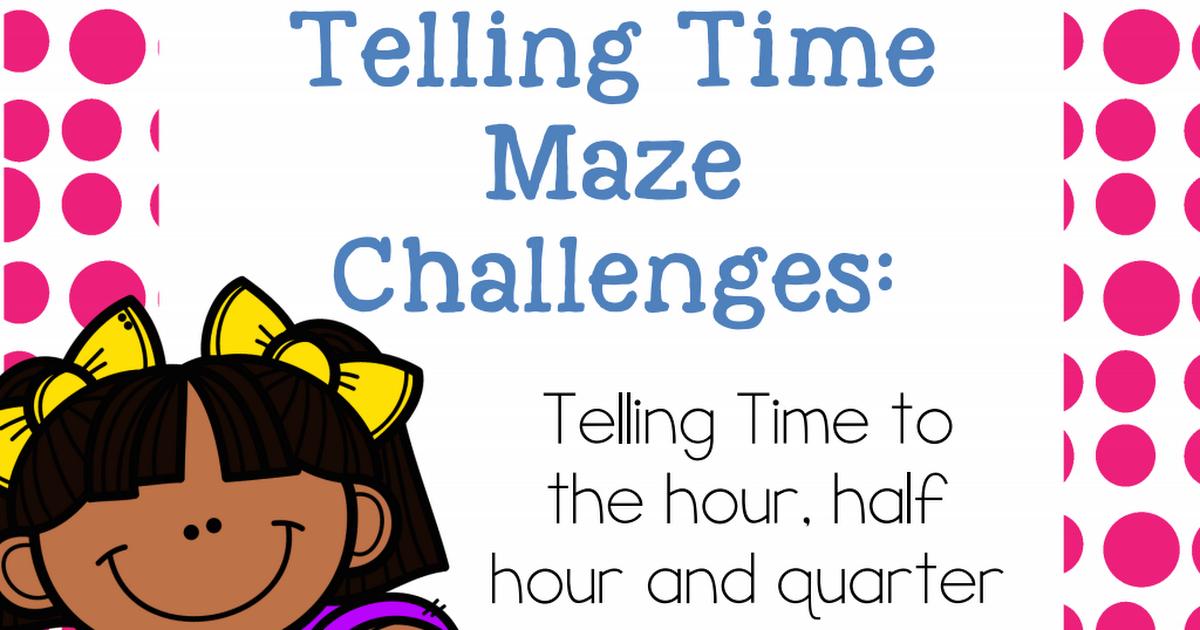 FREE Telling Time Printable Games > Mazes Telling time
