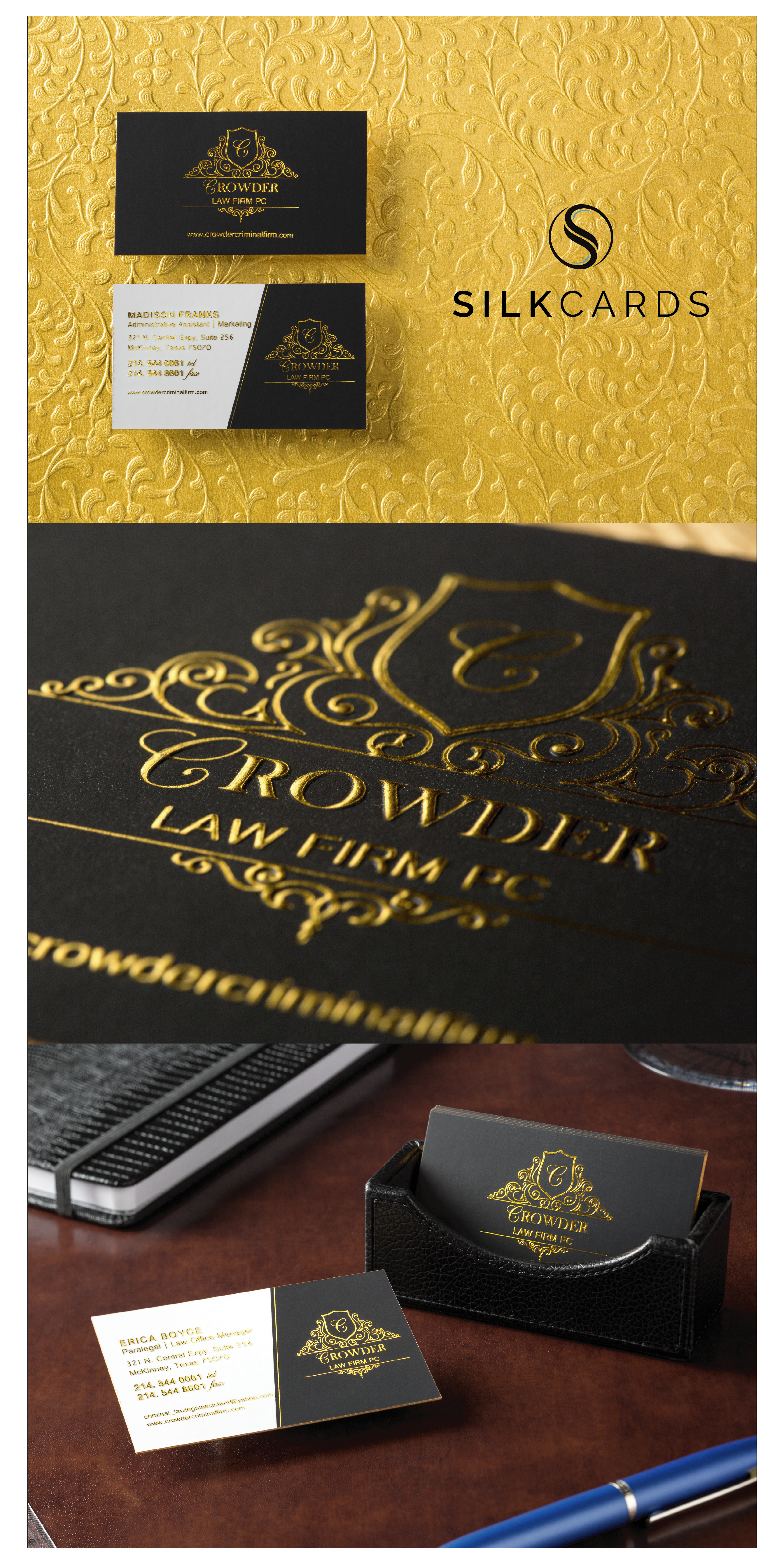 Gold Foil Cards By Silkcards Embossed Business Cards Thick Business Cards Colored Edge Business Cards