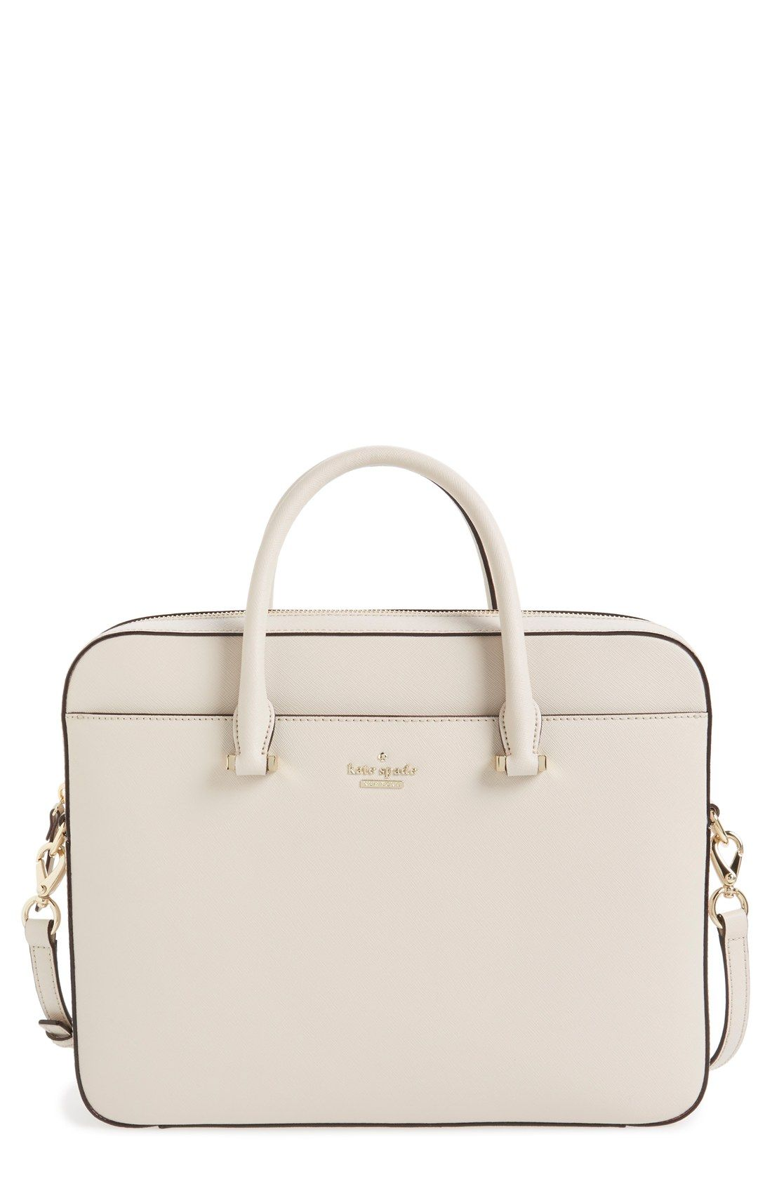 7663495390c8 kate spade new york saffiano leather laptop bag (13 Inch)