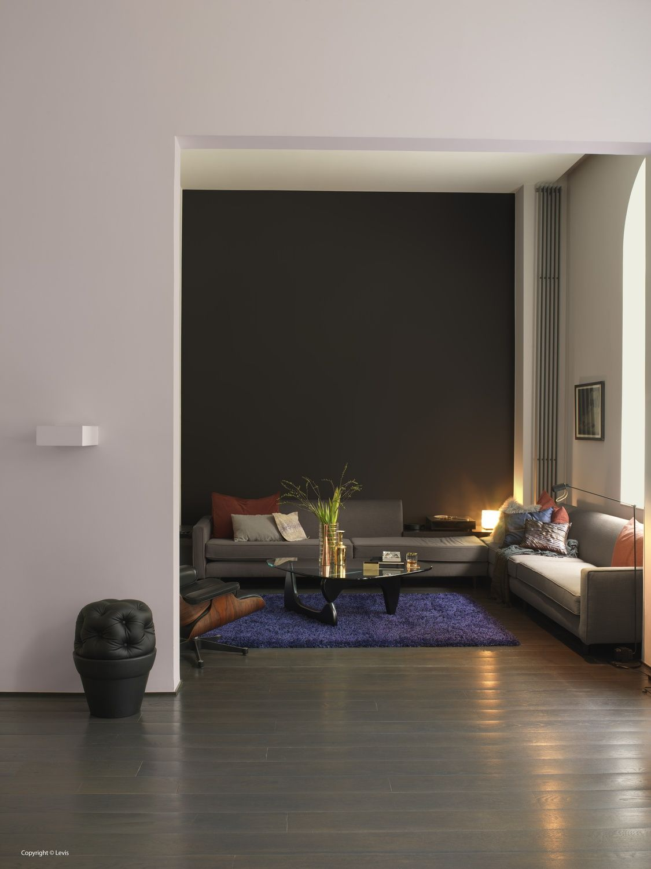 Woonkamer inspiratie levis kleur donkere muur silently infinity woonkamer pinterest - Kleur verf moderne woonkamer ...