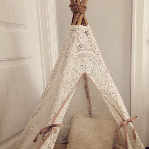 Lace Teepee Play Tent By Aggieandfrancois On Etsy