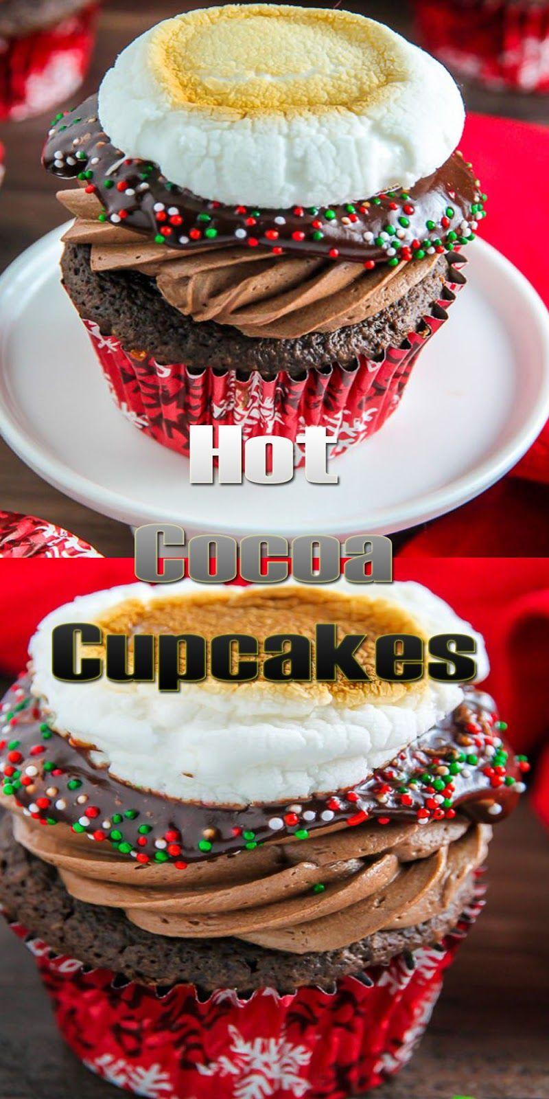 Hot Cocoa Cupcakes Christmas Cake Easy Kraft Recipes Christmas