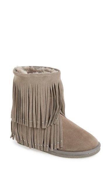 784cd9b42c5 Koolaburra 'Savannity II' Genuine Shearling Fringe Boot (Women ...