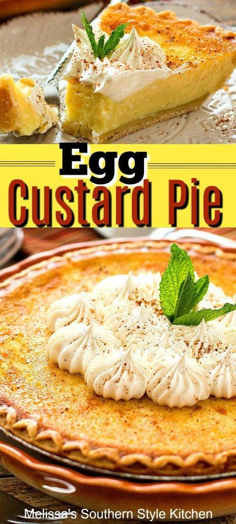 Photo of Egg Custard Pie – melissassouthernstylekitchen.com