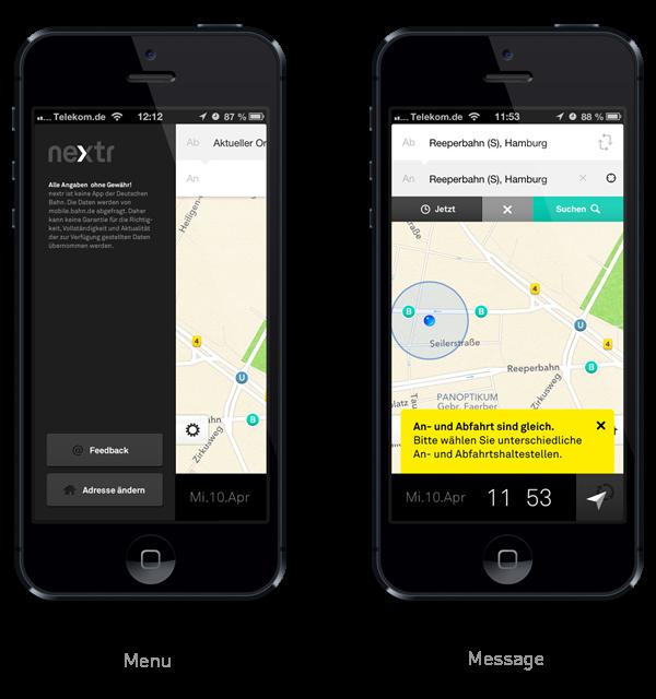 nextr app . public transportation guidance by Martin