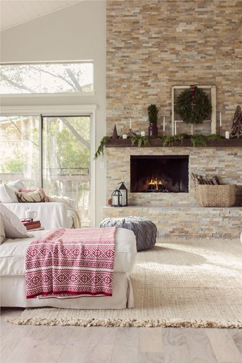 Remodelaholic Decorating Around An Off Center Non Functional Fireplace Home Fireplace Home Home Decor