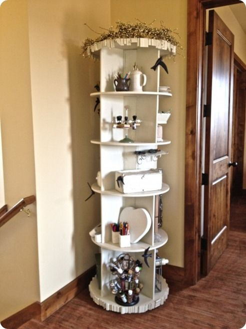 spinning craft storage, Knock Off Decor is an awesome website with ...