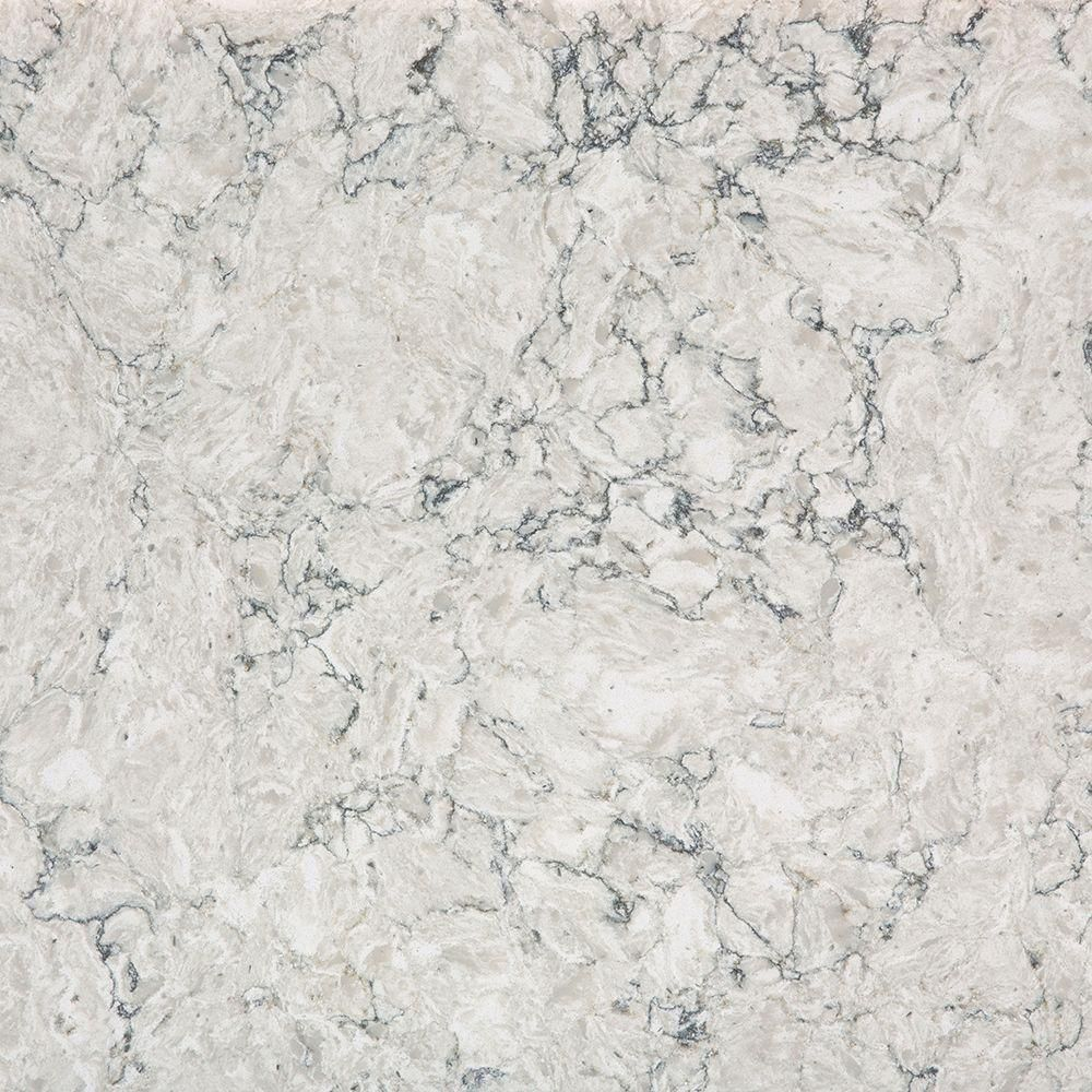2 in x 4 in Quartz Countertop Sample in Pietra Countertop