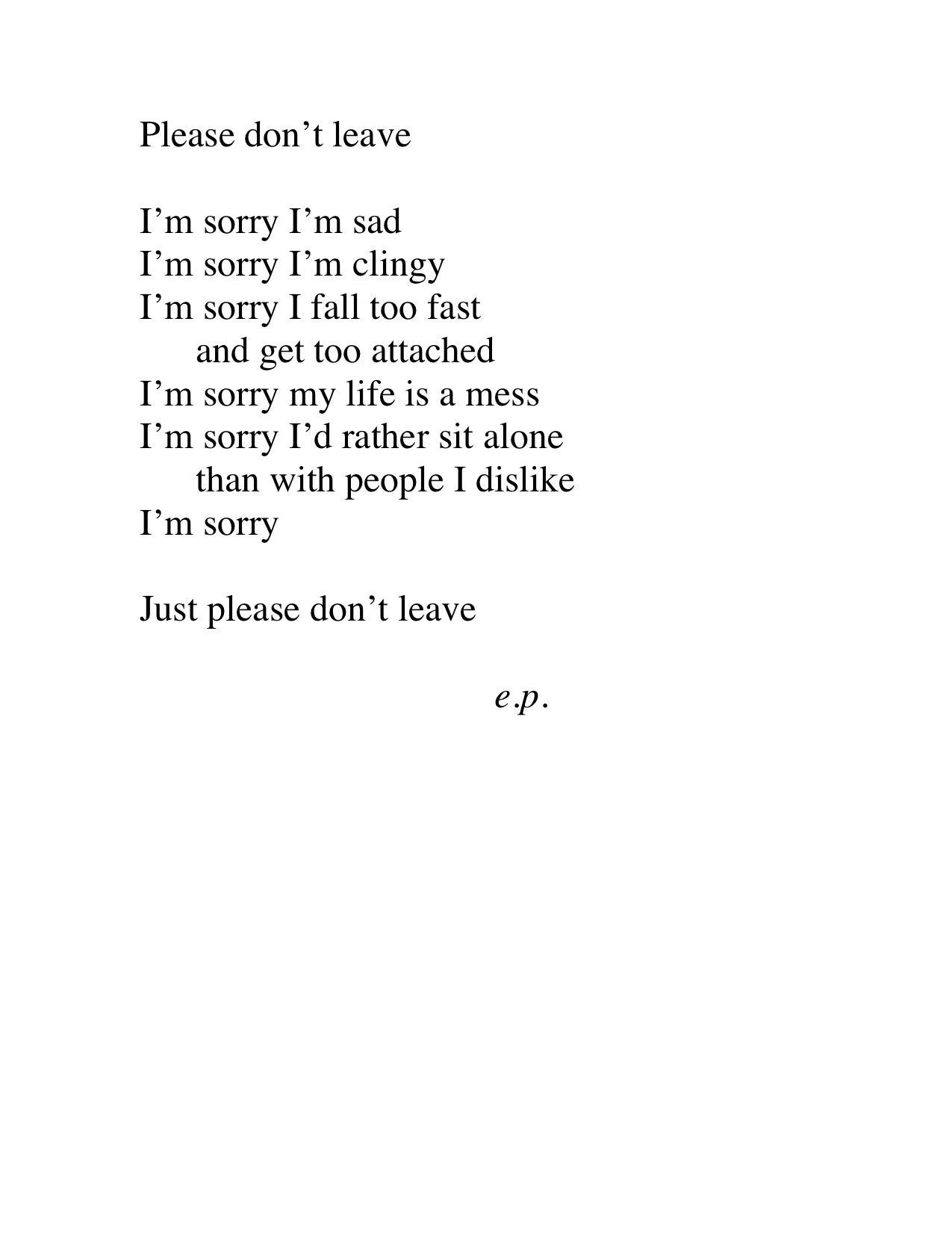 Emotional Im Sorry Words