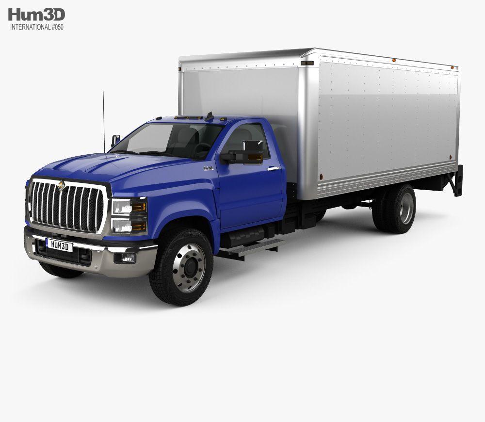 3D model of International CV Day Cab Dry Van 2018 Vans