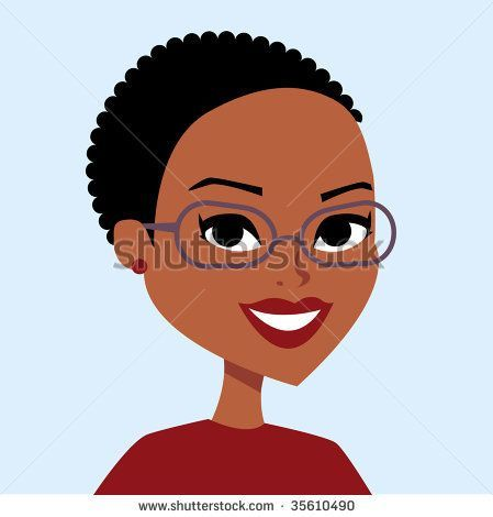 African American Cartoon Characters Girls African American With Short Hair Stock Vector 35610490 Shutter Cartoon Pics Natural Hair Styles Short Hair Styles