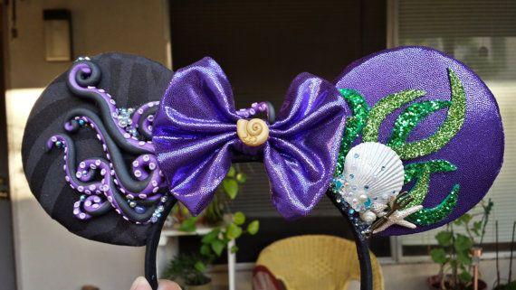 Poor Unfortunate Soul Ears  Ursula   Ariel - Disney s The Little Mermaid  Handmade Mickey Mouse Ears d0cacb6866b4