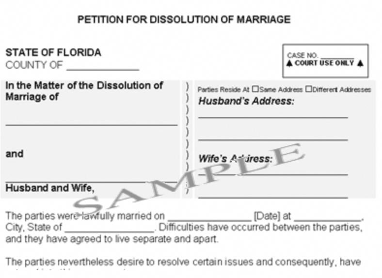 Printable Divorce Papers For Florida Printable Divorce Papers Divorce Papers Dissolution Of Marriage