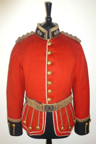 Royal Scots Fusiliers Officer's Doublet / Tunic & Belt - Post 1881 Pattern