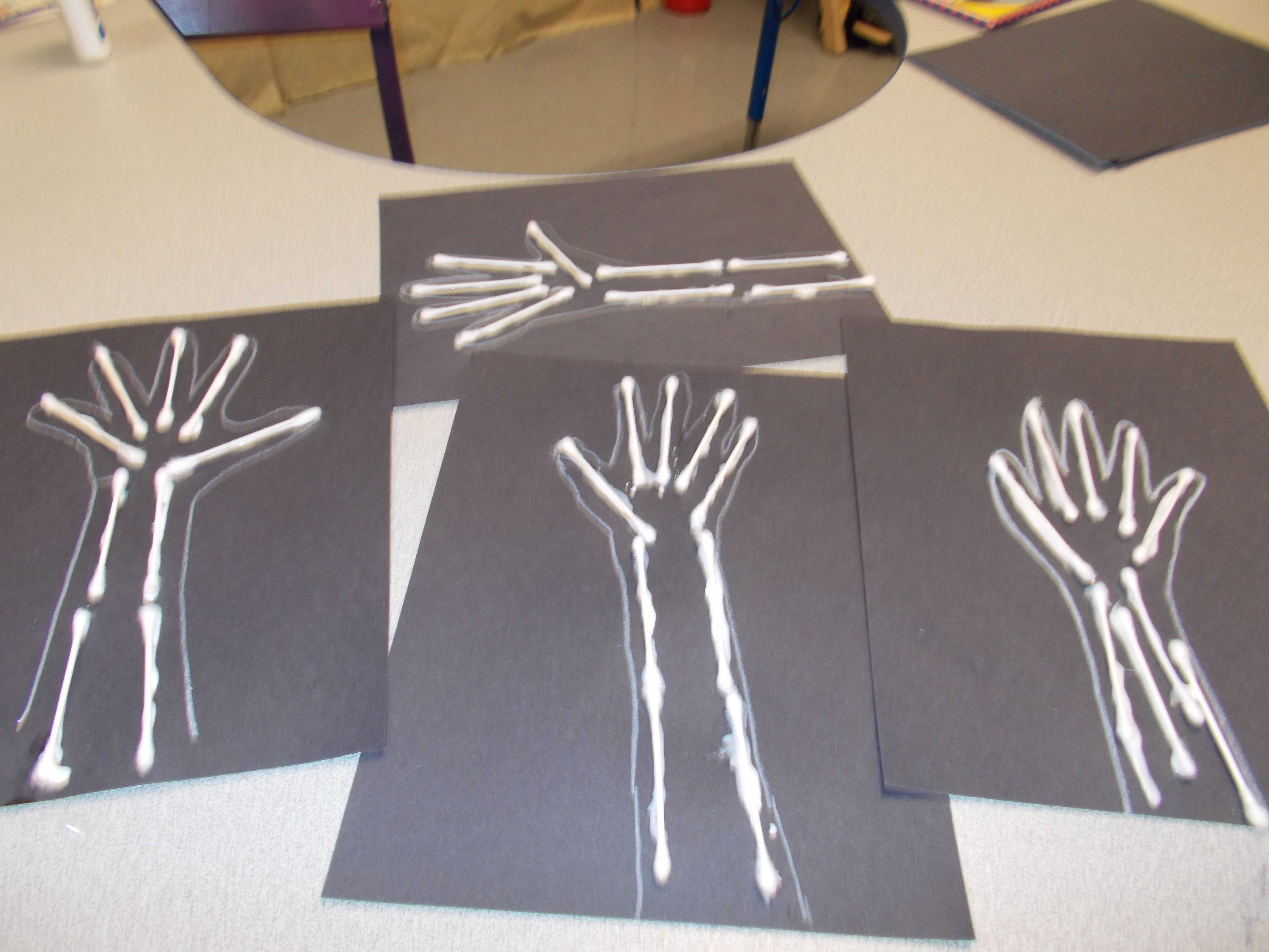 X Ray With Q Tips Community Helpers Play Doctor Preschool Crafts By Mahaley