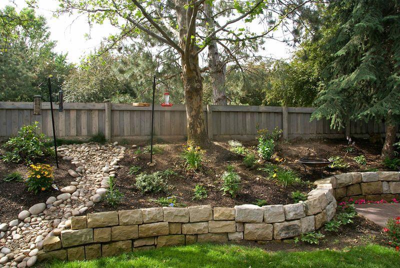 Our Backyard Sloped Backyard Sloped Backyard Landscaping Landscaping Retaining Walls
