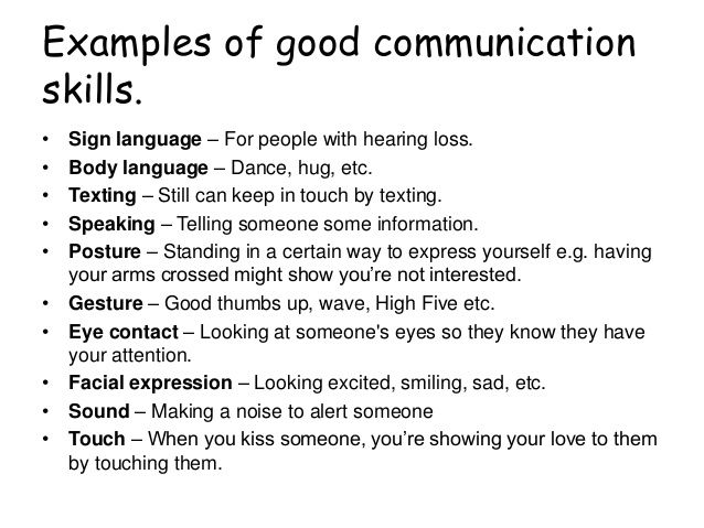 Good communication skills | Communication skills, Examples ...