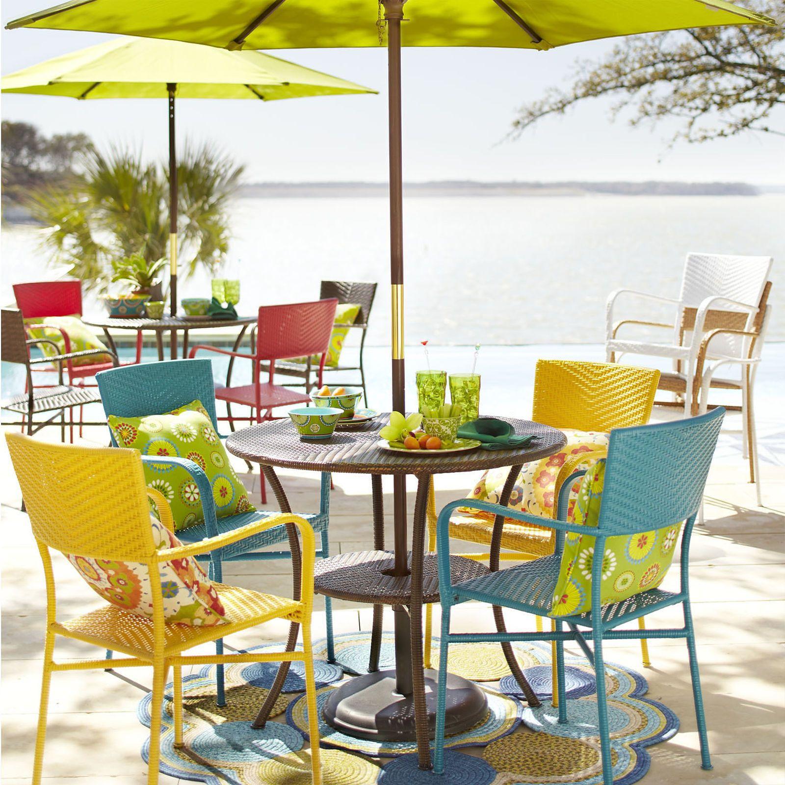 La Cena Bistro Table Mocha Colorful Outdoor Furniture Outdoor