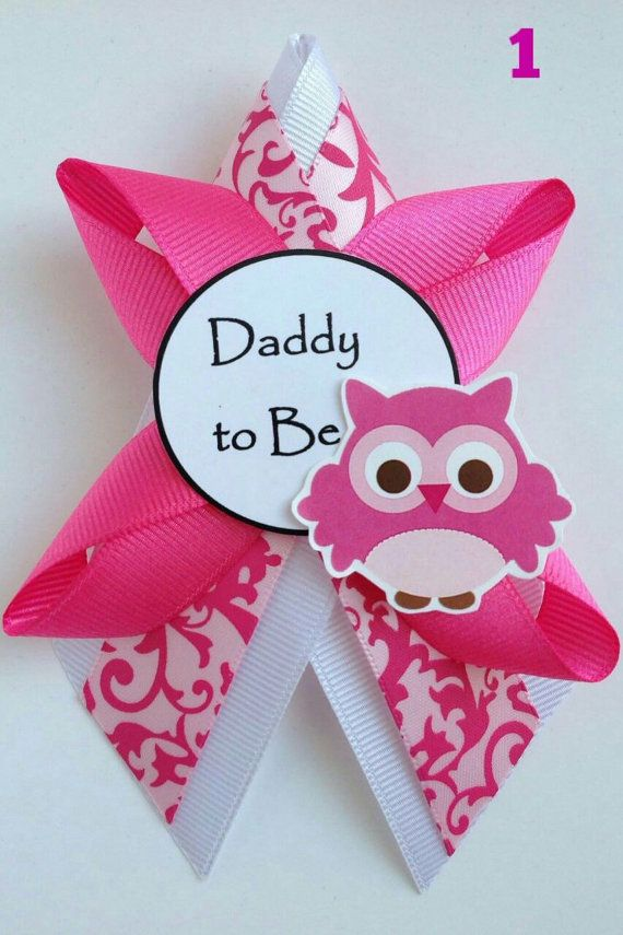 Owl It S A Girl Matching Smaller Pink Baby Shower Corsage By Diatn