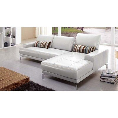 Hokku Designs Leather Sectional Leather Sectional Sectional