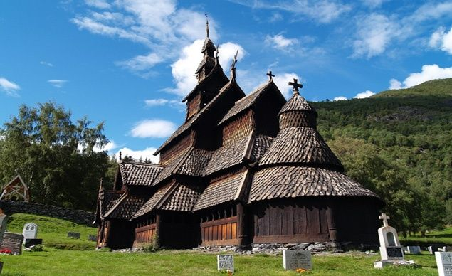 The Borgund Stave Church, in western Norway, dates to 1180. (From: Photos: 10 Most Beautiful Churches)