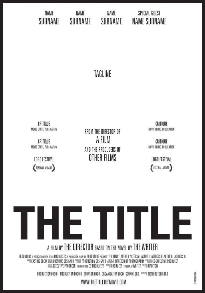 The Title El Cartel De Cine Que Los Encierra A Todos Carteles De Cine Direccion De Cine Poster De Cine