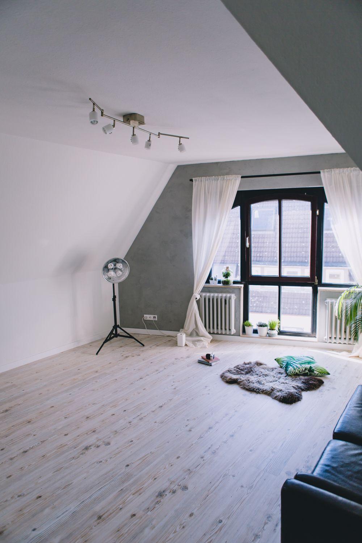 Mein Wohnzimmer nach dem Renovieren: Holz-Optik Bioboden und ...